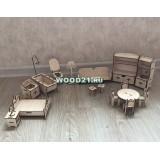 Кукольная мебель 20 предметов