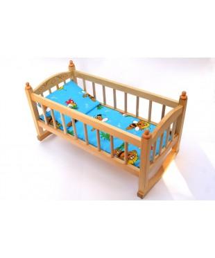 Кукольная кроватка из дерева качалка