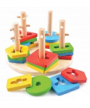 Логический круг, Игрушки из дерева